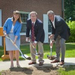 President Byerly, Michael De Lisi '03 and JB Reilly '83 Break Ground on the DKE House Renovation!